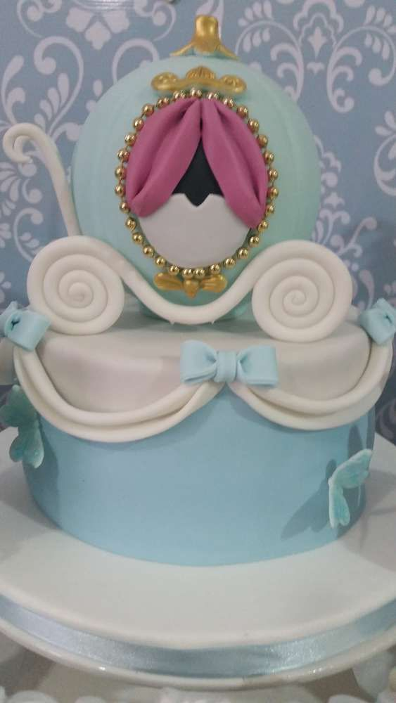 Lovely cake at a Cinderella birthday party! See more party planning ideas at CatchMyParty.com!