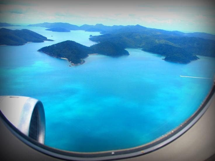 Flying into paradise. #HamiltonIsland #Australia