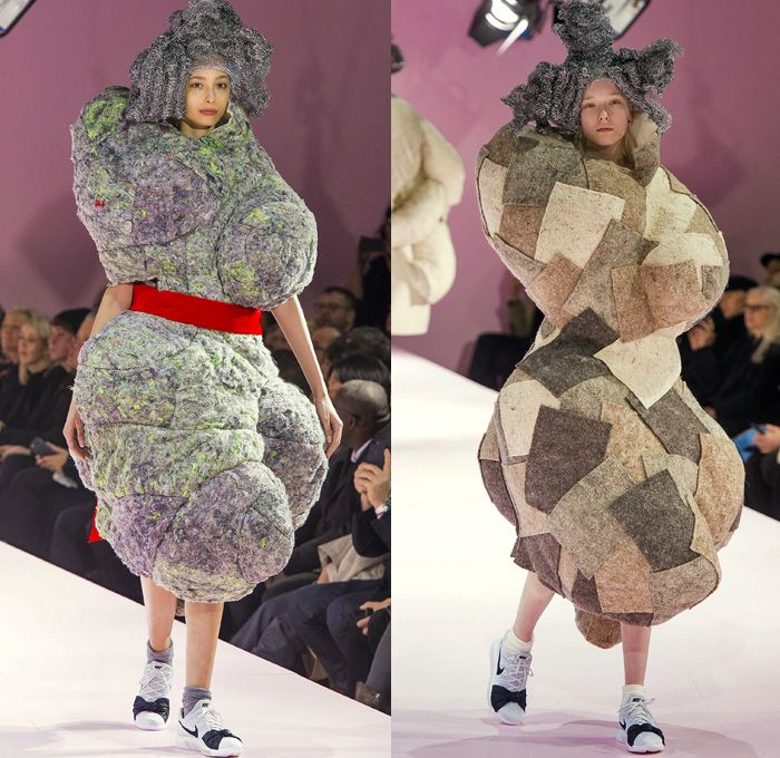 Comme Des Garcons Designer Rei Kawakubo 2017 2018 Fall Autumn Winter Womens Runway Catwalk Looks Mode A Paris Fashi Fashion Bubble Dress Autumn Fashion Women
