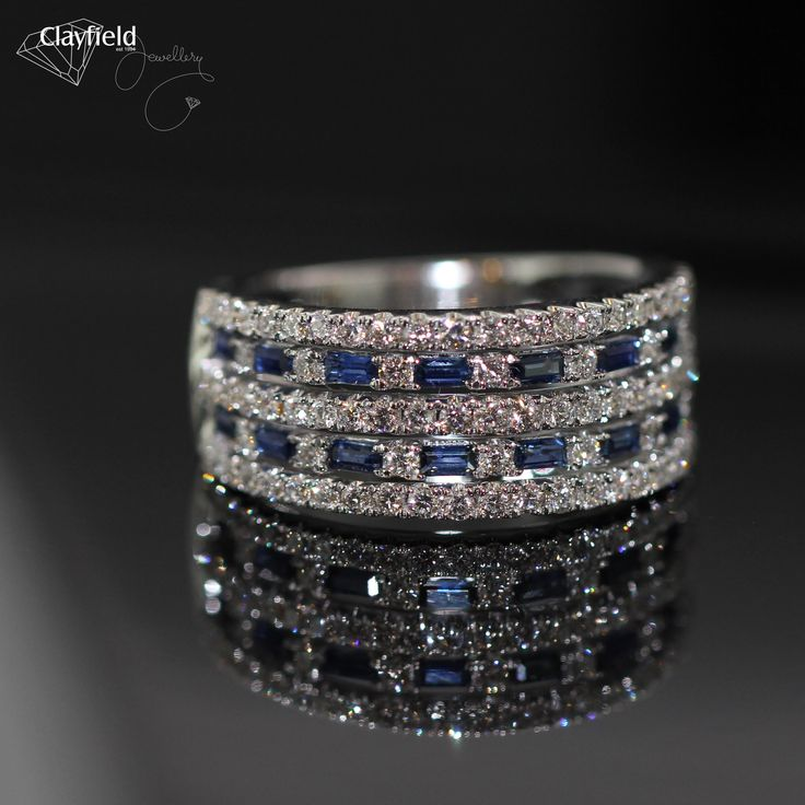 18ct sapphire and diamond ring #clayfieldjewellery