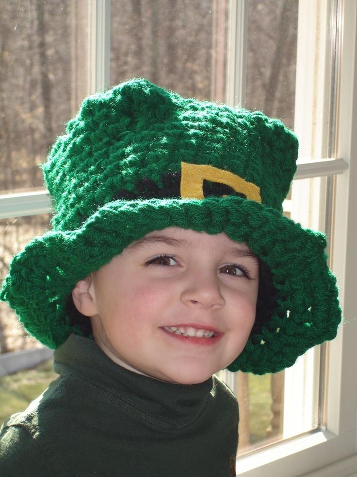 St. Patricks day handmade Leprechaun hat - A very unique handmade crochet hat - great for parade day. $26.00, via Etsy.