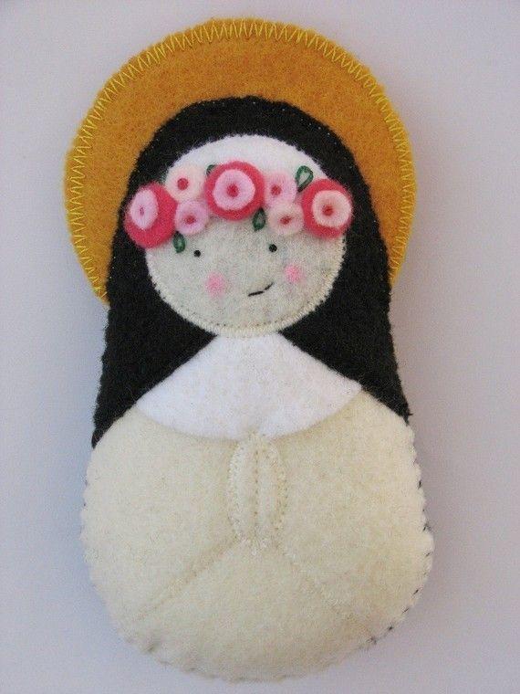 Saint+Rose+of+Lima....Felt+Softie+by+SaintlySilver+on+Etsy