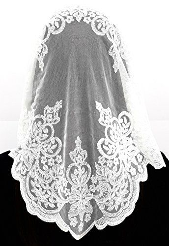 Anna Veils Chapel Catholic Veil Spanish Lace Mantilla Medium - Rich (White) Anna Veils http://www.amazon.com/dp/B012RAUHWQ/ref=cm_sw_r_pi_dp_2JH7wb0CT2ZT3