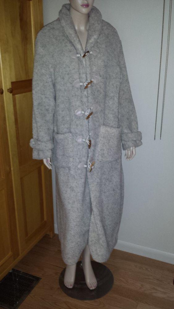 Coldwater Creek fleece full length Fall/Winter coat size M