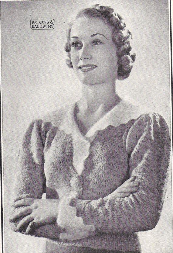 """Принцесса Edith- 1930-х годов фешенебельным Урожай ePattern- гламурно трикотажные кофточки B31 """"B33"""" или B35 """"очень стиль Даунтон Abbey"""