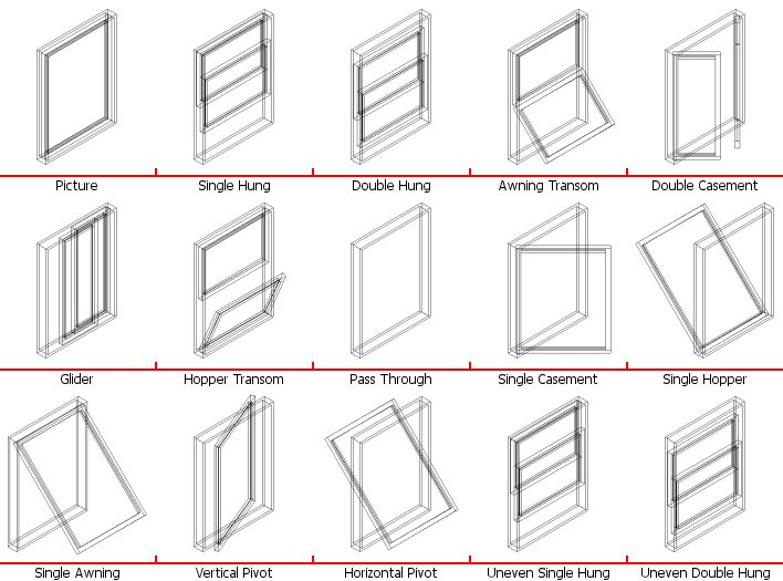 Window types architecture pinterest types of window for Types of windows