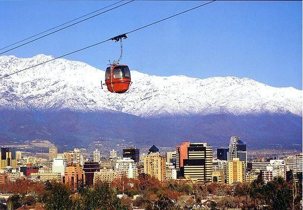 Cable Car above Santiago de #Chile