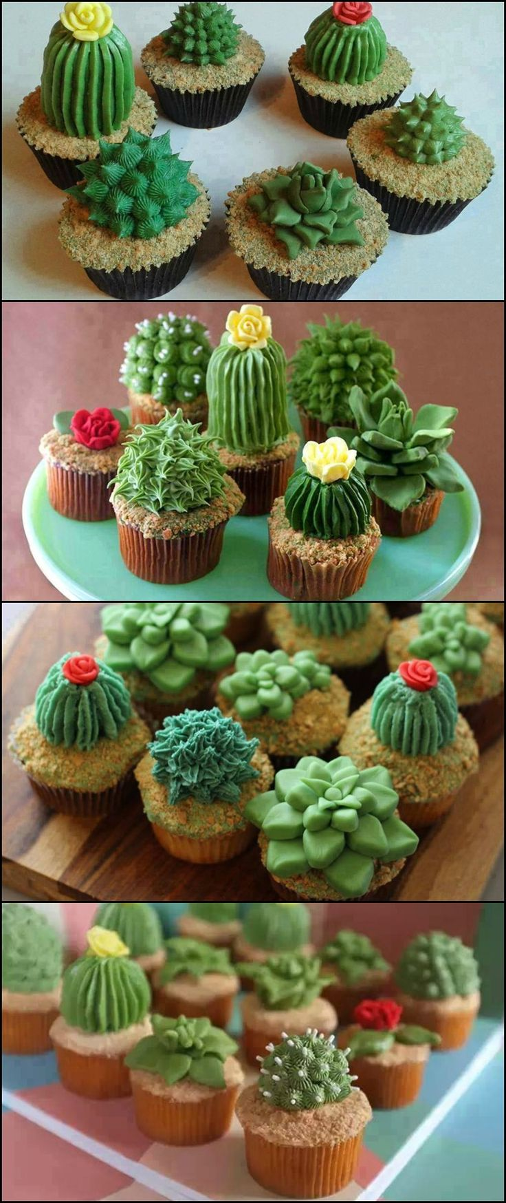 How to Make Succulent Cupcakes  http://food.ideas2live4.com/2015/11/17/how-to-make-succulent-cupcakes/  If you're looking for a really cute dessert to serve at your next gathering, this idea might just be the one for you!  Take a look at these impressively realistic succulent cupcakes we've collected for you and be inspired to make some yourself!