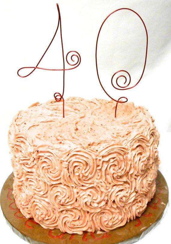 40 Cake Topper Anniversary Decorations by HomesAndWeddings on Etsy, $45.00