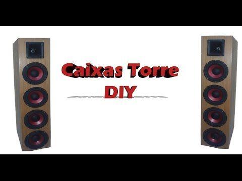 Como fazer caixas torre para Home theater - YouTube