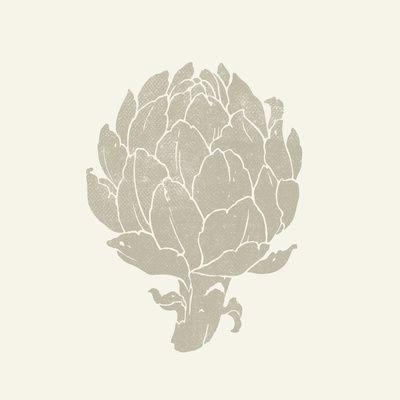 """The Artichoke"" art print in sepia colors | vegetable: artichoke . Gemüse: Artischocke . légume: artichaud | artist / Künstler: Teagan White @ society6 |"