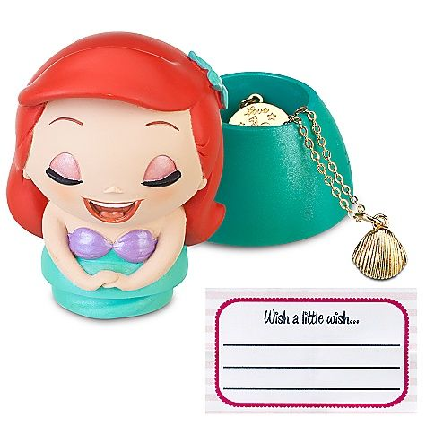 Kidada for Disney Store Wish-a-Little Ariel Figure with Charm Necklace - That necklace is SOOO cute.