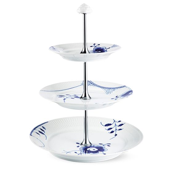 Royal Copenhagen Blue Fluted Mega Etagere 3 layer