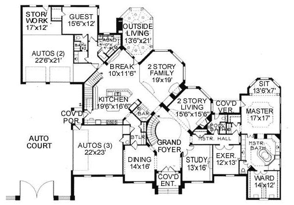 Plan 15373HN: Opulent European Home Plan