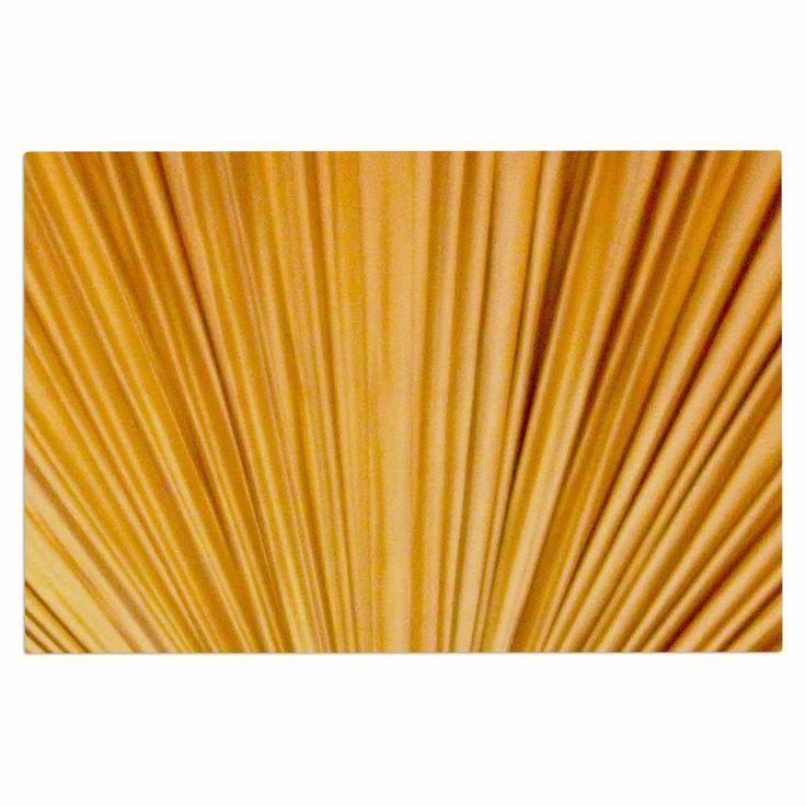 """Philip Brown """"Golden Curtains"""" Orange Abstract Decorative Door Mat"""