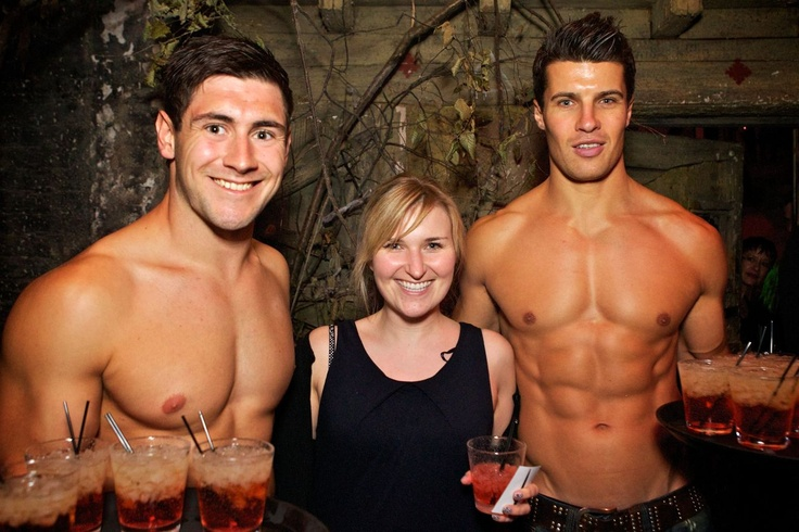 Cocktail anyone? Topless waiters at the London Dungeon