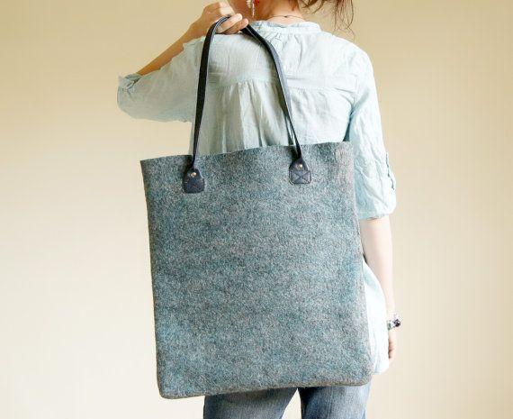 Hand Felted Tote Bag That's It Felted Shoulder Bag by KaroEva, $89.00