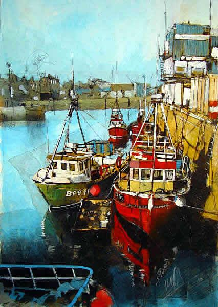 FISHING BOATS IN PORT Malcolm Cheape