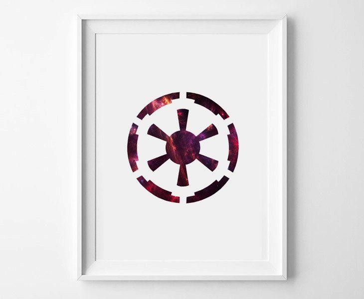 Star Wars Symbol Posters Set of 3 Jedi Order by LittleAnarchy