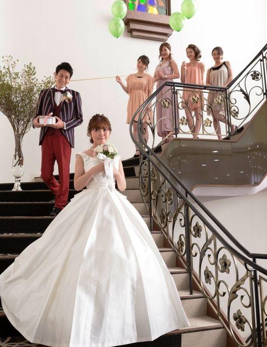 【福岡県久留米市 ホテルニュープラザKURUME・ウェディング】ファーストミート♡大きならせん階段にて