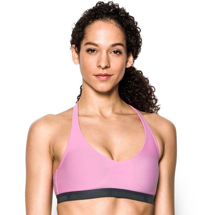 Under Armour Bras: Strappy Low-Impact Sports Bra 1289445, Women's, Size: Medium, Beige Over