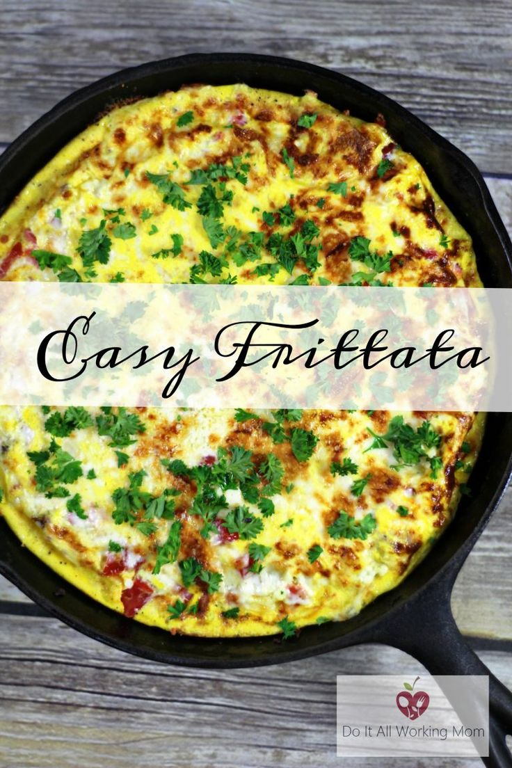 This Easy Frittata makes the perfect breakfast, lunch, brunch or dinner. It's delicious!