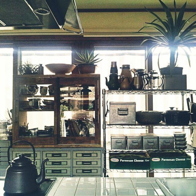 ケトル/関西好きやねん会/無印良品/タイル/キッチン収納/キッチン棚…などのインテリア実例 - 2015-02-11 06:48:58 | RoomClip(ルームクリップ)