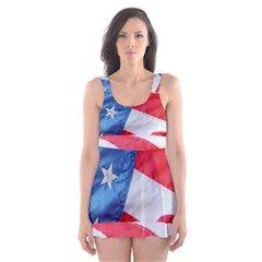 Folded American Flag Skater Dress Swimsuit from Stuff Or Something