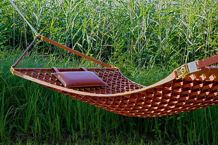 """Objets Nomades"" for Louis Vuitton  The most amazing hammock ever, all in leather"