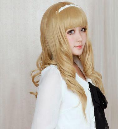 Lolita Curl K-ON Cosplay Gold Wig SP152569 - SpreePicky  - 3