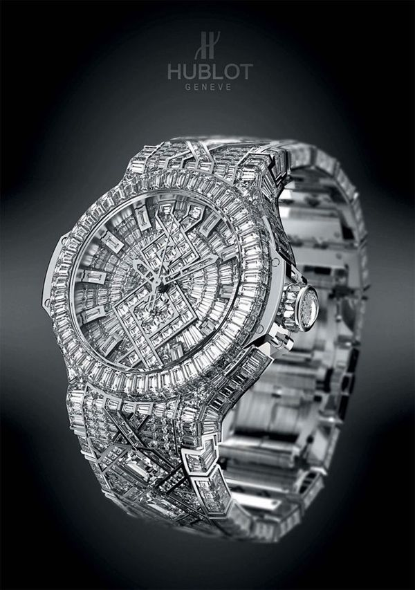 Hublot diamond watch omg want want want!!!!!!!!