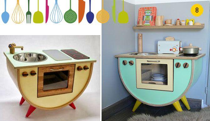 Cocinita de juguete para peque os chefs estilo retro for Cocinitas para ninos