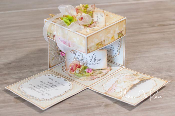 Exploding box z życzeniami na ślub