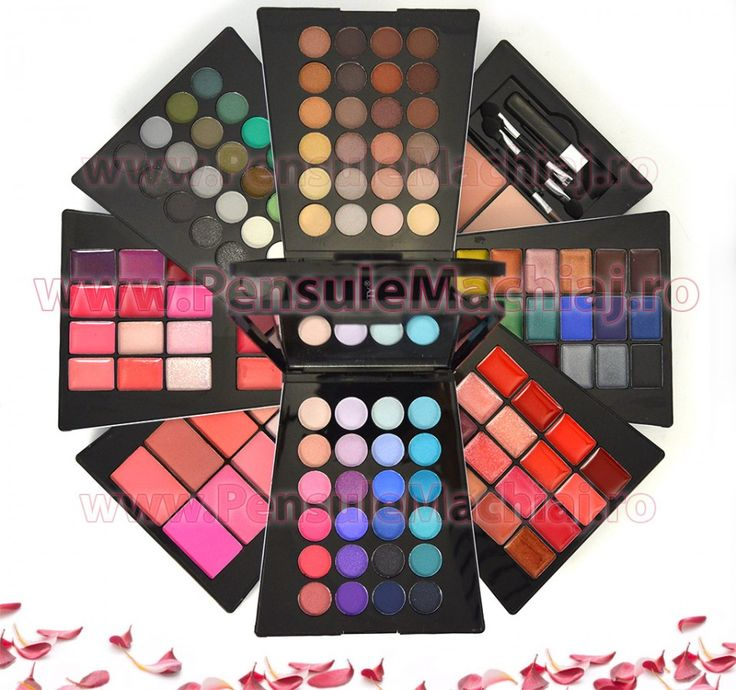 Poze Trusa Machiaj Multifunctionala 132 culori cu blush, pudra si ruj Ever…