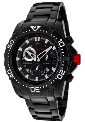 91% Off Red Line Racer Chrono Black IP Stainless Steel Black Dial Watch