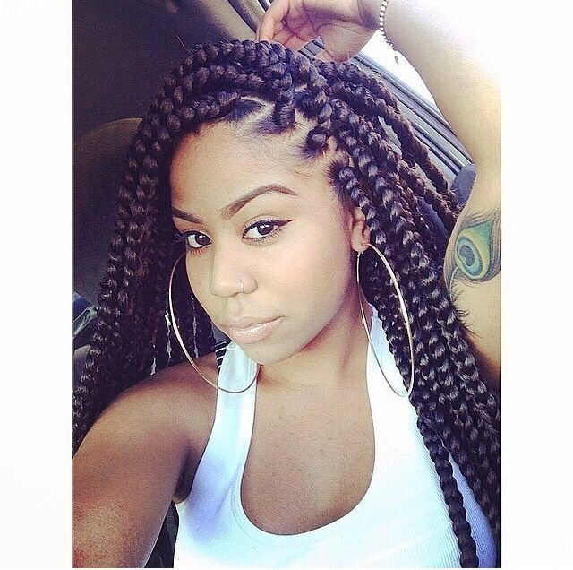 Big Braids Hairstyles Awesome 34 Best Braids Images On Pinterest  Cornrow Box Braids And African