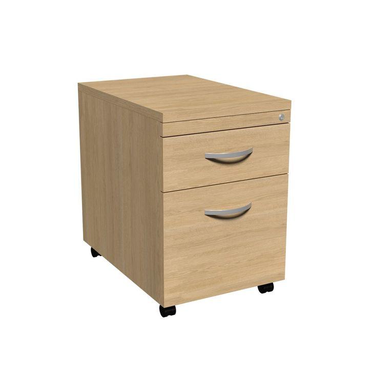 Elegant Light Oak Filing Cabinet 2 Drawer