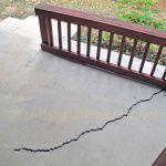 How to repair a cracked concrete patio slab with QUIKRETE® Concrete Repair No. 8620 sanded caulk with a description of concrete crack repair options.