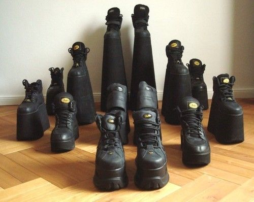 Buffalos Classics; shoes, platforms, shape