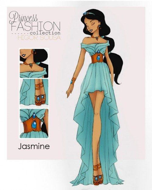 Get a Glimpse of These High Fashion Disney Princesses - Jasmine