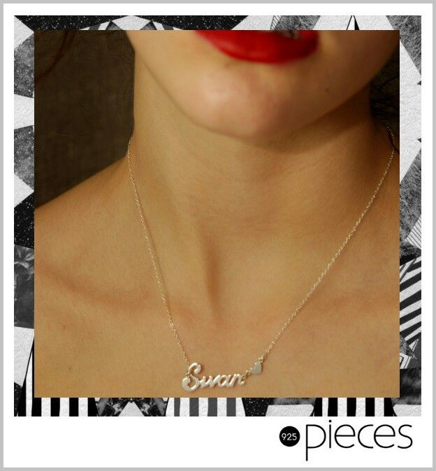 Have your name made up in sterling silver,  or plated 18ct yellow/rose gold.