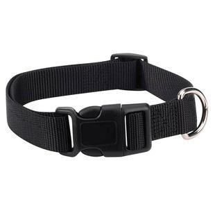 JET BLACK FASHION NYLON ADJUSTABLE DOG COLLAR - BD Luxe Dogs & Supplies - 1