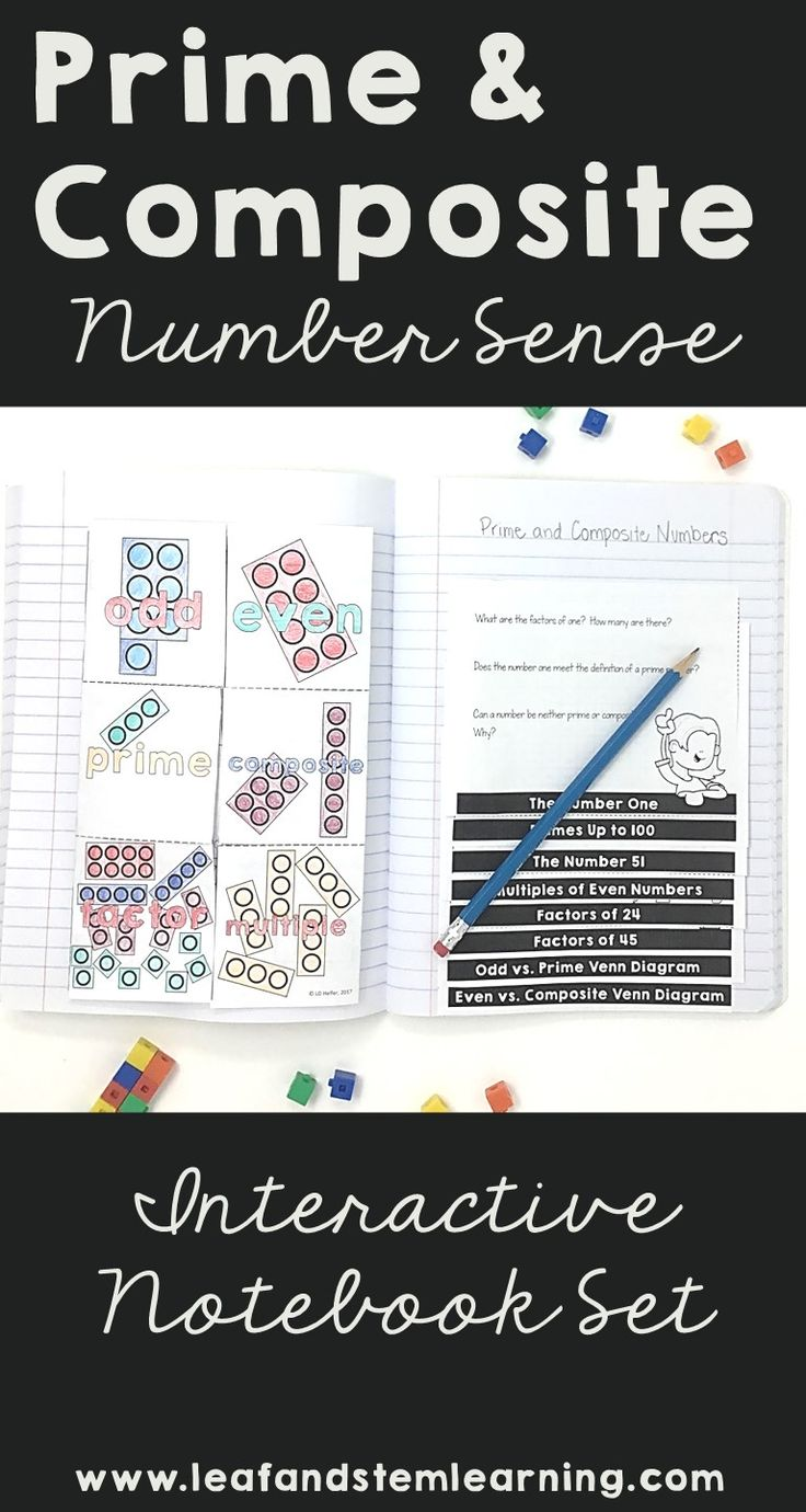 Best 25 prime and composite numbers ideas on pinterest prime and composite numbers interactive notebook set robcynllc Image collections
