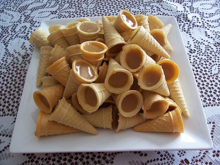 Cornets sucrés #recettesduqc #dessert #sucrerie
