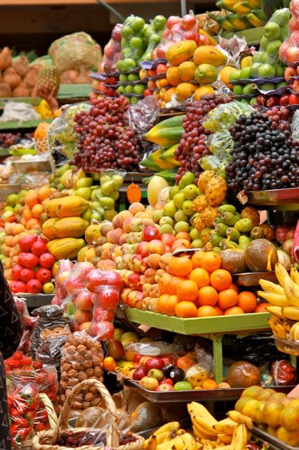 Ahhh the delectable fruit. Delicious produce at the Saturday market in Ecuador.