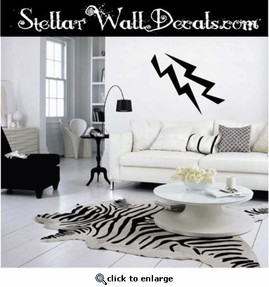 Lighting Bolt Wall Vinyl Decal Sticker Stickers Symbolsst048