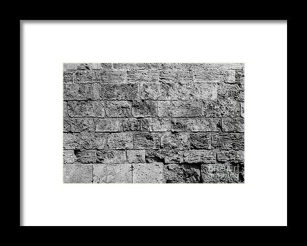 Old Brick Wall Texture Framed Print