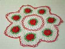 Vintage Irish Crochet Christmas Doily