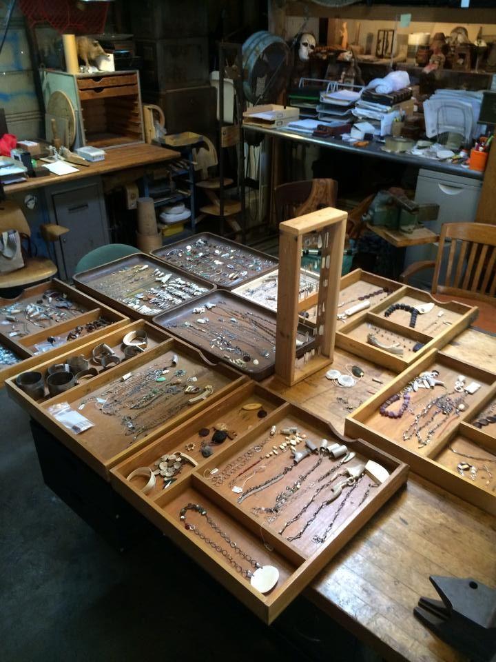 Eric Silva's studio in Whittier California