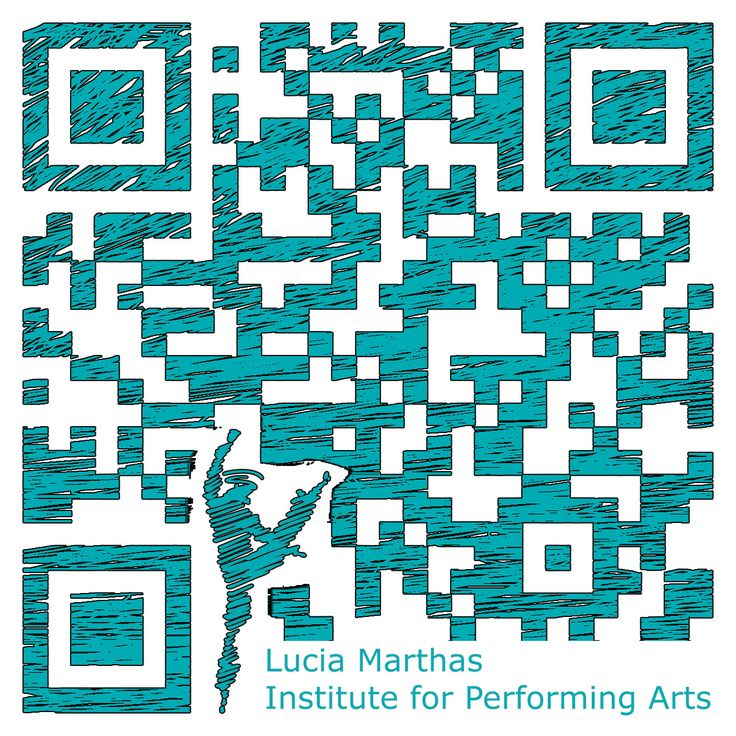 Design #QRcode voor het Lucia Marthas: Institute for performing arts (http://www.luciamarthas.nl/) | made by clouddog.nl